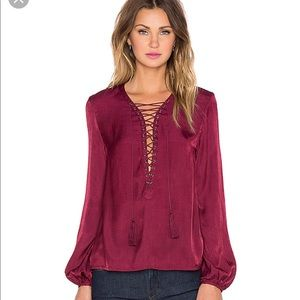 The Jetset Diaries for Revolve Delta Top in Wine